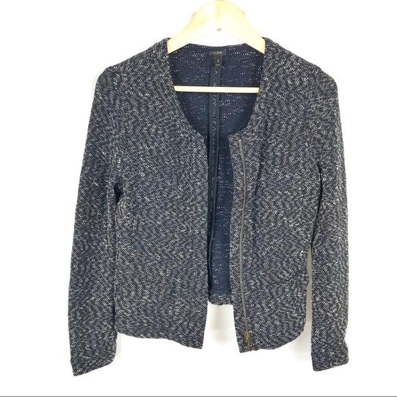 J. Crew Jackets & Blazers - J. Crew navy blue zip up blazer cardigan